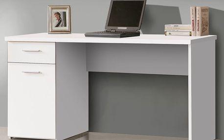 Forte NET106, psací stůl MT936, bílý uni mat