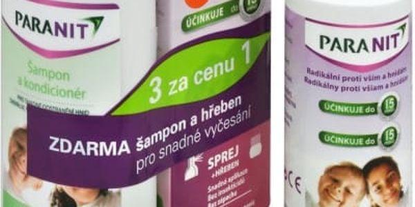Omega Pharma Paranit sprej 60 ml + 40 ml ZDARMA + šampon 100 ml ZDARMA + hřeben ZDARMA