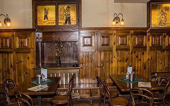 Bohaté menu pro dva v restauraci Švejk