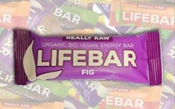 Lifefood Lifebar fíková BIO RAW 47g