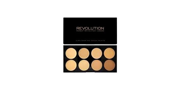 Makeup Revolution Ultra Cover and Conceal Light Medium krycí paletka