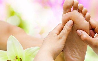 Reflexní masáž chodidel a masáž dolních končetin