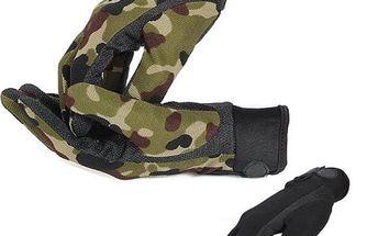 Zateplené pánské rukavice na motocykl - černá - dodání do 2 dnů