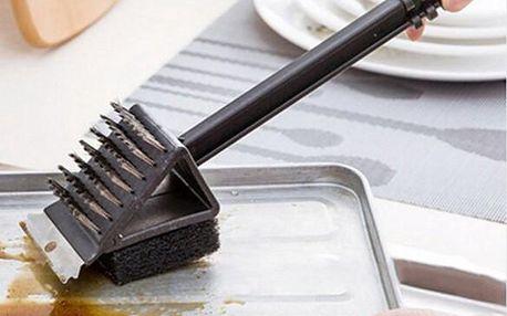 Oboustranný čistící kartáč na rošty