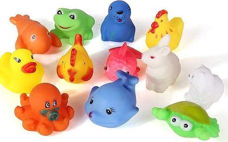 12 kusů gumových hraček do vany