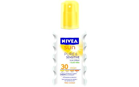 NIVEA sun sprej na opalování sensitive OF 30 200 ml