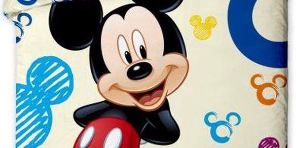 Jerry Fabrics Povlečení Mickey colours bavlna 140x200 70x90
