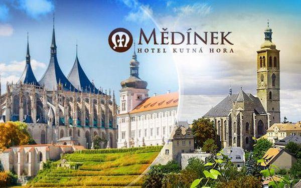 Třídenní pobyt v Hotelu Mědínek - Kutná Hora pro dva s polopenzí, obědem a prohlídkou
