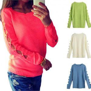 Dámský svetr s průstřihy na rukávech Linda