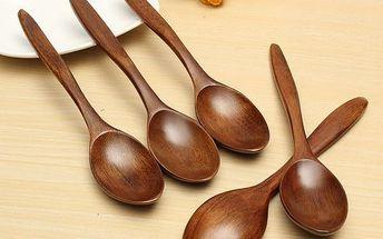 Dřevěné lžíce - 5 ks