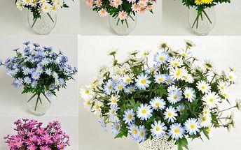 Dekorativní kytice sedmikrásek - 24 ks