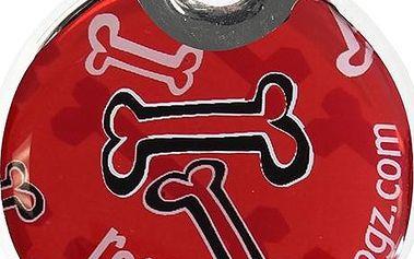 ROGZ ID TAGZ plastová známka Red Bones 27 mm