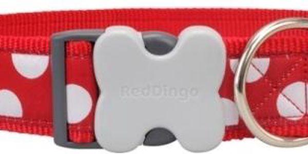 Red Dingo obojek S White Spots on Red