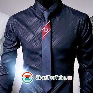 Stylová pánská slim-fit košile: elastický vzhled, pěkný vzor, různé barvy a poštovné v ceně