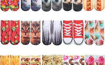 Kotníkové ponožky s 3D potiskem