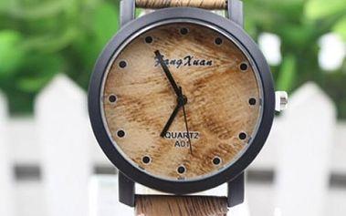 Unisex hodinky v dřevěném designu