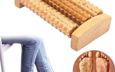Dřevěný masážní roller zmírňující bolest končetin