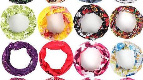 Multifunkční šátek v atraktivních vzorech pro muže i ženy - poštovné zdarma