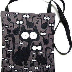 Taška se zipem Gaul s kočkou 101 33x28 cm, Gaul designs