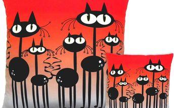 Polštářek Gaul zvědavé kočky 19x19 cm, Gaul designs