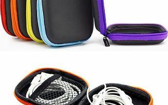 Pouzdro na sluchátka - kombinace dvou barev