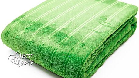 Deka z mikrovlákna SIERRA zelená 150x200 cm Essex