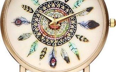 Geneva hodinky s indiánskými motivy - dodání do 2 dnů