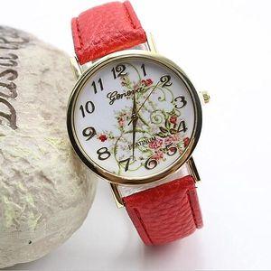 Jemné hodinky s květinovým motivem - poštovné zdarma