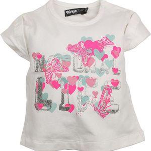Dirkje Dívčí tričko s motýlky - bílé, 92 cm