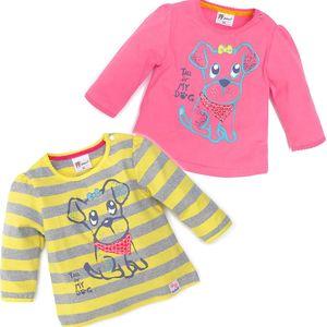 Gelati Sada 2 ks dívčích triček s pejskem, 62 cm