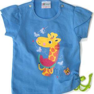 Gelati Dívčí tričko s obrázkem - modré, 68 cm