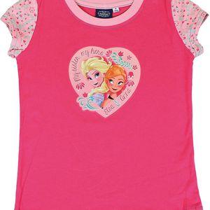 Disney Dívčí tričko Frozen - růžové, 92 cm