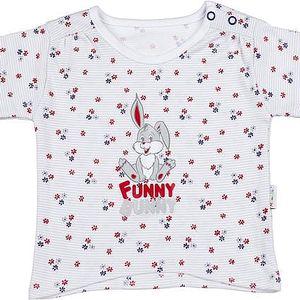 Mamatti Dívčí tričko skrálíčkem - nařasené rukávy, 68 cm