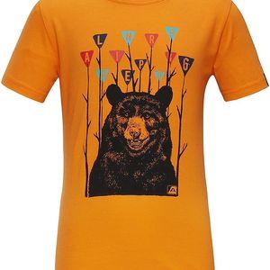 ALPINE PRO Chlapecké tričko SILVANO 3- žluté, 92-98 cm