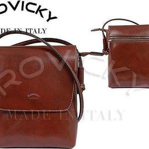 Dámská kabelka z pravé kůže TWR-3 Hnědá