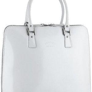 Elegantní dámská kabelka z pravé kůže bílá
