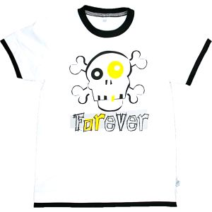 MMDadak Chlapecké tričko s lebkou Forever - bílé, 80 cm