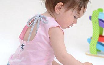 Lamama Dívčí top na zavazování - růžový, 0-6 měsíců