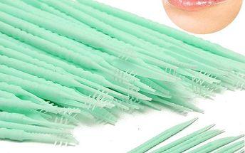 Plastová párátka na dentální hygienu - 150 kusů