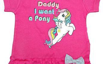 E plus M Dívčí tričko Pony - růžové, 62