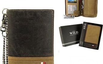 Pánská peněženka z pravé kůže N4ZC-R hnědá