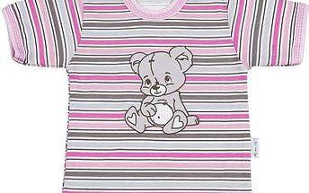 Mamatti Dívčí tričko s medvídkem, 68 cm