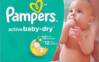 Pampers Active Baby-dry 3 Midi, 150 ks (4-9 kg) - jednorázové pleny