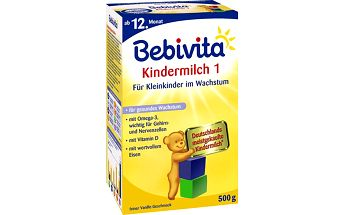 Bebivita kojenecké mléko JUNIOR 1+ Instantní pokračovací kojenecká výživa od uk. 11.měsíce 4x500g