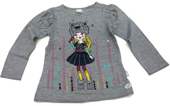 Tup-Tup Dívčí tričko s barevným potiskem, 122 cm