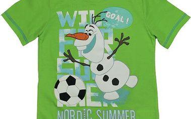E plus M Chlapecké tričko Frozen - zelené, 128 cm