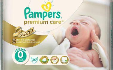 Pampers Plenky Premium Care 0 Newborn (do 2,5kg) - 30ks