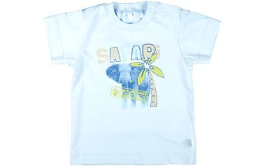 MMDadak Chlapecké tričko s potiskem slona Safari - světle modré, 92 cm