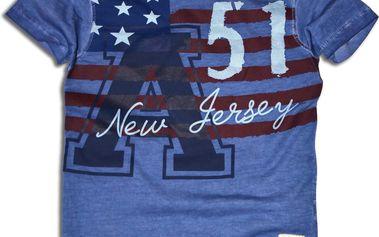 Minoti Chlapecké tričko s potiskem Jersey - modré, 104 cm