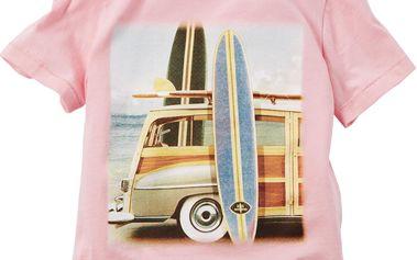Carter's Dívčí tričko se surfařským potiskem - růžové, 92 cm